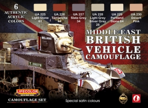 Camouflage Set LifeColor CS16 MIDDLE EAST BRITISH VEHICLE CAMOUFLAGE