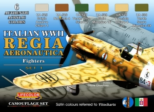 Camouflage Set LifeColor CS19 REGIA AERONAUTICA WWII SET1 FIGHTERS